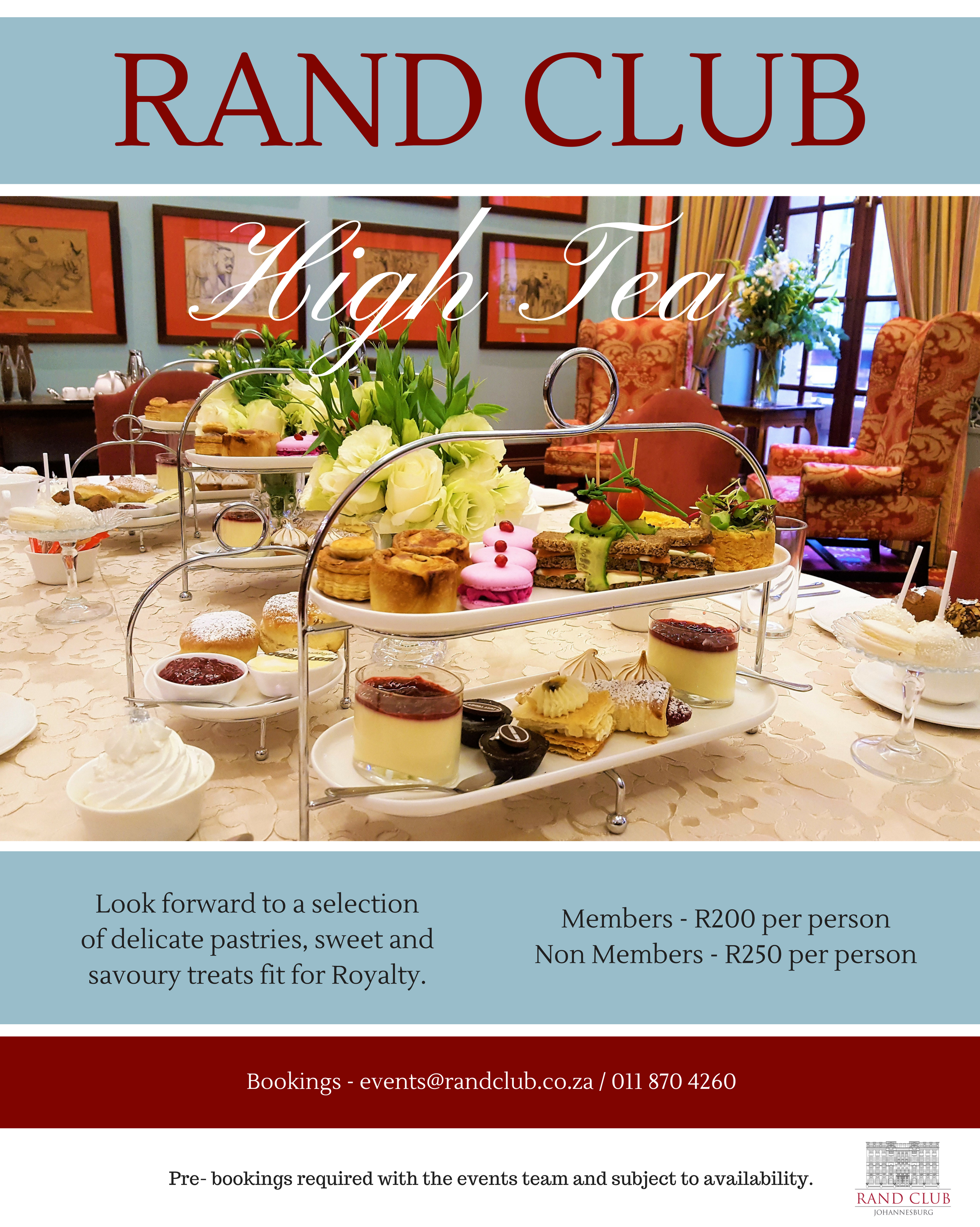 High Tea at Rand Club