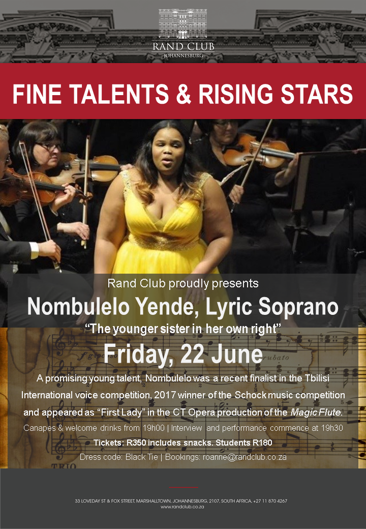 Fine Talents and Rising Stars